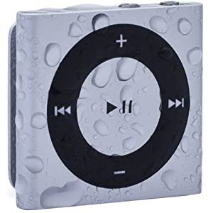 Waterfi 100% Waterproof iPod Shuffle with Dual Layer Waterproof/Shockproof Protection (Silver)
