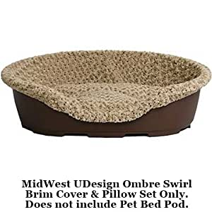 """MidWest Quiet Time U-Design Medium Ombre Swirl Pattern Pod Cover and Pet Bed Pillow 33""""L x 23""""W x 11""""H"""