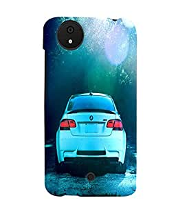 Fuson 3D Printed Car Designer back case cover for Micromax Android A1 - D4500