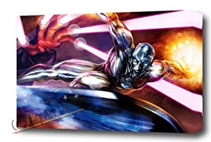 FANTASTIC 4 SILVER SURFER ART POSTER GICLEE MOUNTED 30X20""