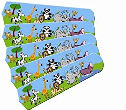 Ceiling Fan Designers 52SET-IMA-JPA Jungle Party Animals 52 In. Ceiling Fan Blades Only