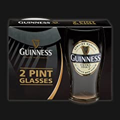Guinness Cream Label Pint Glass 2pk