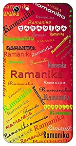 Ramanika (Handsome) Name & Sign Printed All over customize & Personalized!! Protective back cover for your Smart Phone : Moto E-2 ( 2nd Gen )