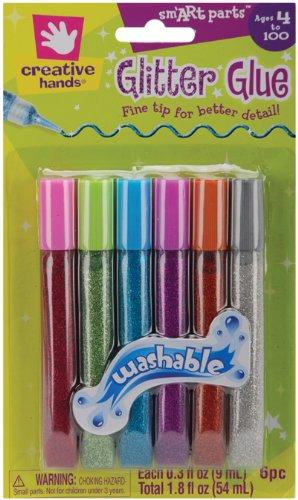 Fibre-Craft Creative Hands Mighty Fine Glitter Glue Pens .3 Oz. 5-Pack: Jewel Tones