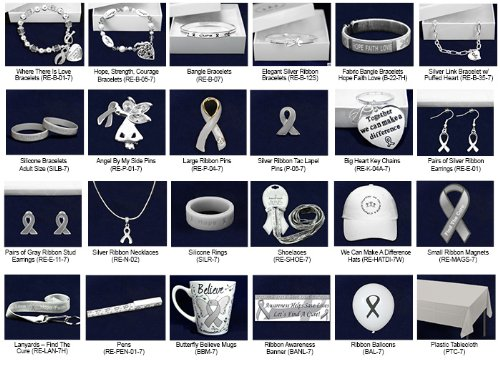Gray Ribbon Mixed Item Fundraising Kit (364 Items)