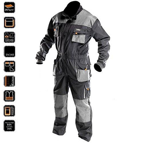 Profi-Arbeitsoverall-mit-Arbeitsjacke-Latzhose-Overall-Arbeitskleidung-L
