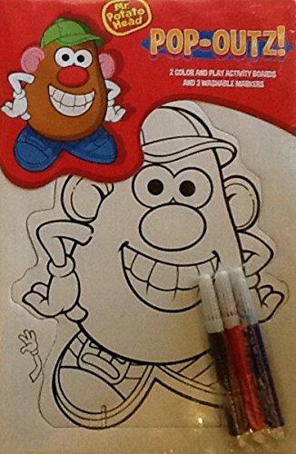 Pop-outs Mini Set~ Mr. Potato Head ~ Coloring Activity Boards & Markers