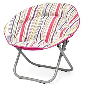 Plush padded folding moon saucer chair for for Fun chairs for adults