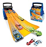 Hot Wheels Racing Battle Storage Case & Track A1602XX with 2 Die-Cast Cars