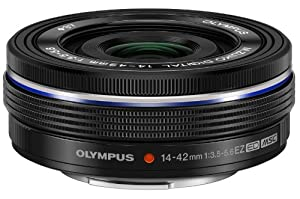 Olympus V314070SU000 14-42mm f3.5-5.6 EZ Interchangeable Lens for Olympus/Panasonic Micro 4/3 Digital Camera