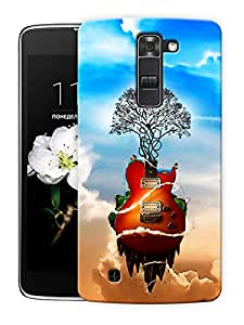 """Guitar Is Life - Music Printed Designer Mobile Back Cover For """"LG K10"""" By Humor Gang (3D, Matte Finish, Premium Quality, Protective Snap On Slim Hard Phone Case, Multi Color)"""
