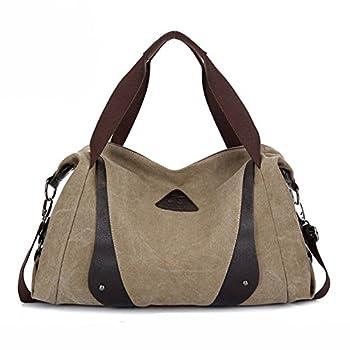 Aibag Women's Retro Casual Canvas Weekend Travel Shoulder Bag 2