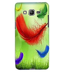 ColourCraft Beautiful Feathers Pattern Design Back Case Cover for SAMSUNG GALAXY GRAND PRIME G530H