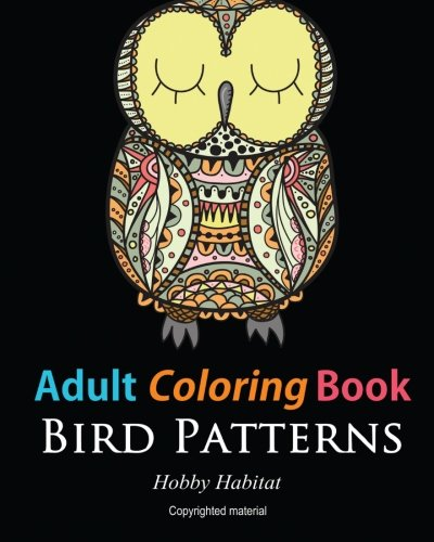 Adult coloring books bird zentangle patterns 51 Coloring books for adults hobby lobby