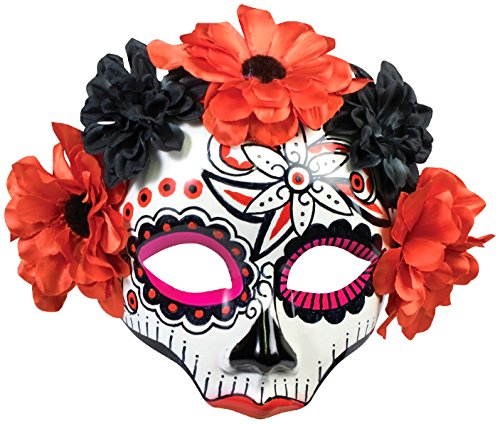Forum Novelties Women's Day Of Dead Skull Flower Mask