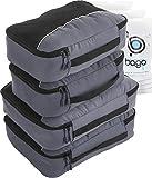 Bago Cubi Di Imballaggio Viaggi Organizzatore per i bagagli, borse 4pcs con Protector Gray