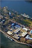 Alu Dibond 70 x 100 cm: Riverside - Bauprojekt auf Halbinsel Stralau in Berlin-Friedrichshain von Robert Grahn / euroluftbild.de