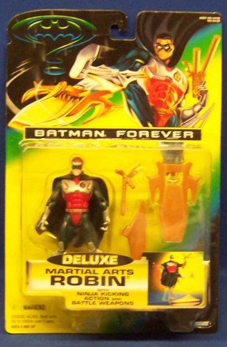 Batman Forever - Deluxe Martial Arts Robin with Ninja Kicking Action and Battle Weapons