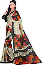 Lizel Fashion Women's Art Silk Saree with Blouse Piece