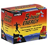 5 Hour Energy Energy Shot, Berry, 6 - 1.93 oz (57 ml) bottles