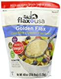 Flax USA 100% Natural Organic Flax Cold Milled Ground Golden Flax Seed, 40-Ounce Pack