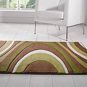 Flair Rugs Orleans Honesty Hand Carved Rug, Brown/Green, 120 x 170 Cm by Flair Rugs