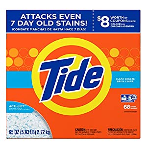Tide Ultra Clean Breeze Scent Powder Laundry Detergent, 68 Loads