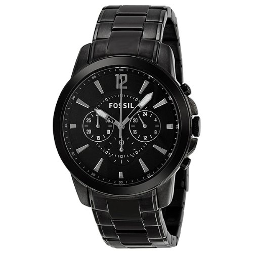 Fossil FS4723 Grant Stainless Steel Watch, Black