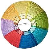 "Amscan Radiant Rainbow Round Paper Lanterns, 9 1/2"", Multicolor"