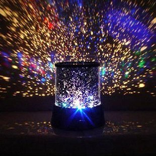 Innoo Tech**LED Night Light Projector Lamp With Colorful Sky Star Scene, Bed Side Lamp With USB Cable