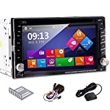 Ouku 2014 New Model 6.2-Inch Double-2 DIN In Dash Car DVD Player Touch screen LCD Monitor with DVD/CD/MP3/MP4/USB/SD/AMFM/RDS Radio/Bluetooth/Stereo/Audio and GPS Navigation SAT NAV Head Deck Tape Recorder Wall Paper exchange HD:800*480 LCD+Windows Win 8 UI Design Free GPS Antenna+Free Official Kudo GPS Map