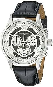 Jorg Gray Herren-Armbanduhr XL Analog Quarz Leder JG6600-24