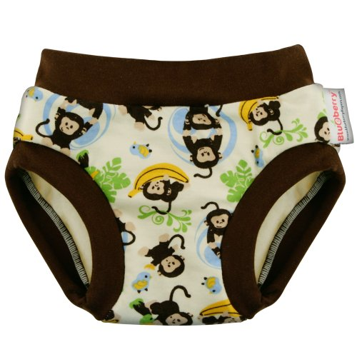 Blueberry Training Pants, Monkeys, Medium