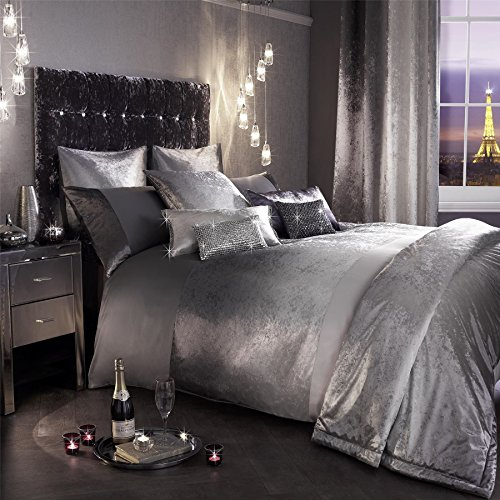 Kylie Minogue Ombre Slate Velvet Double 7 Piece Bedding Set