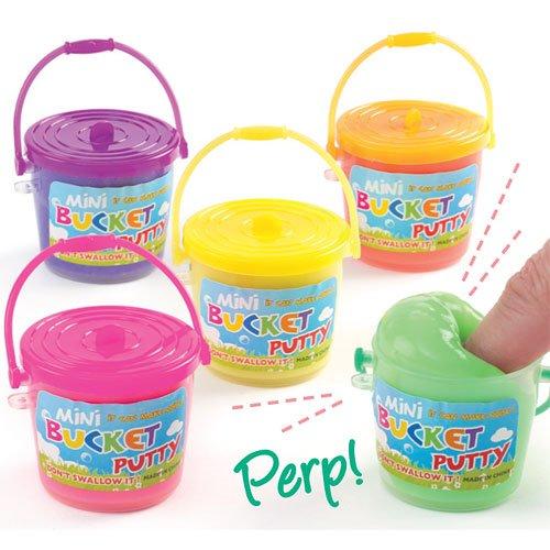 Mini secchi di melma da Regalare alle Feste dei Bambini per Giocarci (confezione da 5)