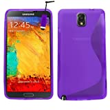 Samrick S Wave Hydro Gel Protective Case, Screen Protector, Microfibre Cloth, Purple High Capacitive Mini Stylus Pen for Samsung N9000/N9002/N9005 Galaxy Note 3 - Purple