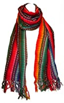 "MayaWear Hand Woven Scarf - ""Tequila Sunrise"" - 100% High-Quality Cotton"