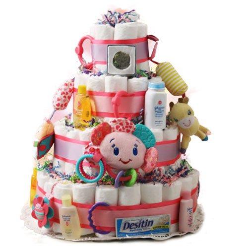 Sweet Cheeks Baby Diaper Cake