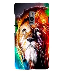 ColourCraft Lion Look Design Back Case Cover for OnePlus Two