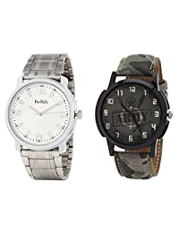 Relish Analog Round Casual Wear Watches For Men Combo - B01ANCD8MQ