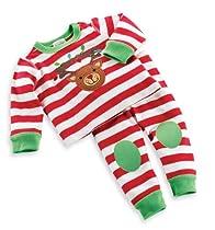 Mud Pie Unisex-Baby Newborn Reindeer Long Johns, Multi Colored, 9-12 Months