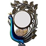 Ghanshyam Art Wood Peacock Wall Mirror (30.48 Cm X 4 Cm X 45.72 Cm, GAC076)
