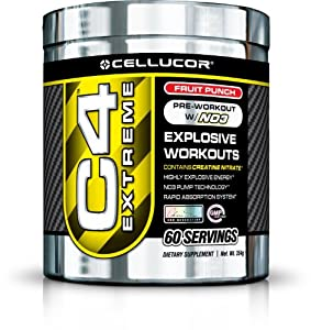 Cellucor C4 Extreme Supplement Powder 120, Fruit Punch