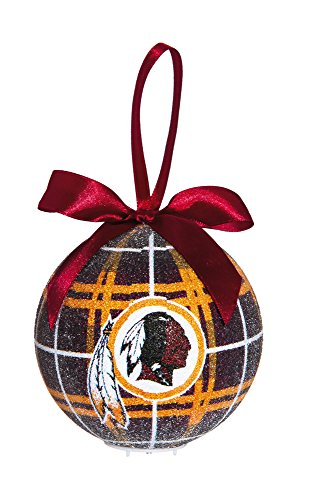 100Mm Led Ball Ornament, Washington Redskins