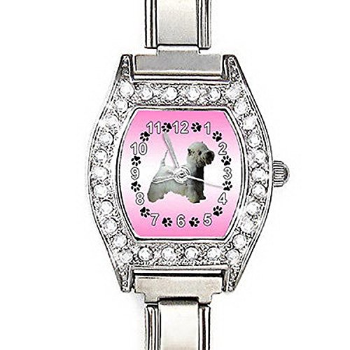 BMCZ169 West Highland Terrier Westie CZ Lady Stainless Steel Italian Charms Watch