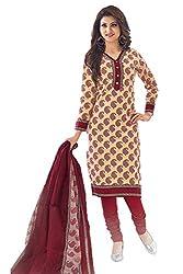 Gugaliya Women's Unstiched Superior Cotton FASHION SALWAR,KAMEEZ & DUPATTA Suit ( P528)