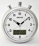 Seiko Stylish Silver finish Clock Beep Alarm Chronograph Stopwatch Timer Function