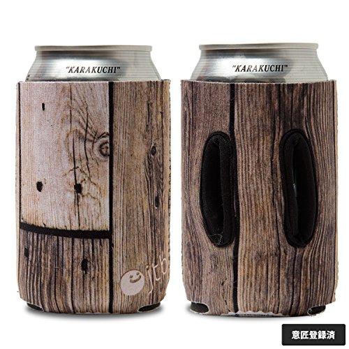 """オブジェクティブー 通せるクージー 350ml用 """"STAMP"""" Aged Wood"""