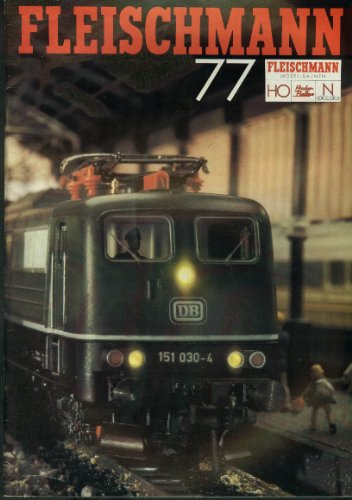 Fleischmann Ho & N-Scale Electric Trains & Motor Racing Catalog 1977