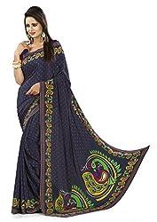 Design Willa Smooth feel Art crepe Sari (DWPC053,Multicolor)